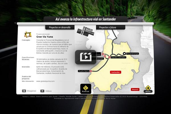 Así avanza la infraestructura vial en Santander