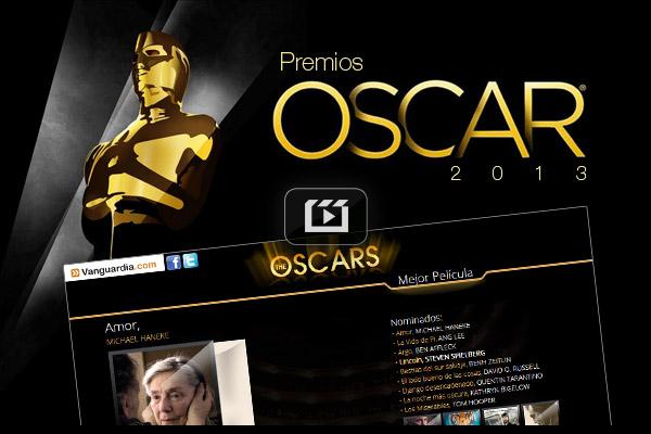 Nominados a la entrega de los Premios Oscar 2013.