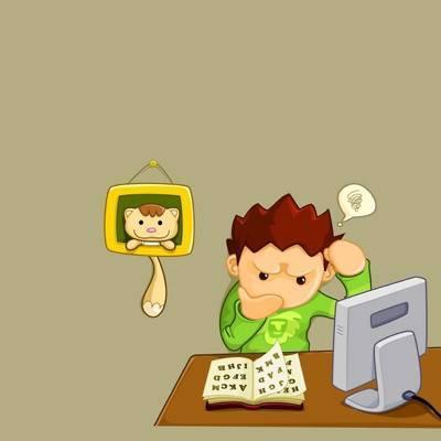 Resultado de imagen para Caricatura de estudiante adolescentes tomando un examen