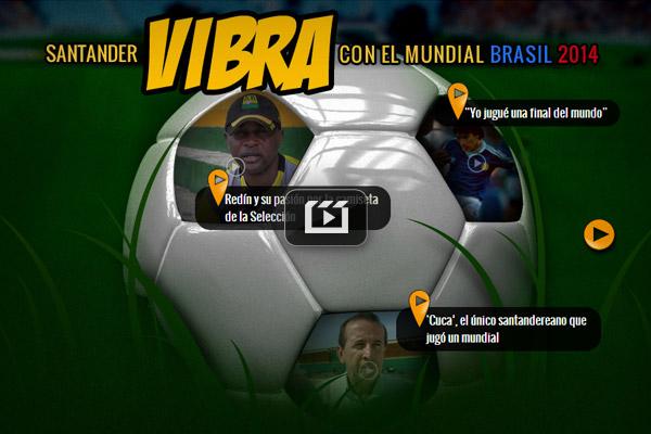 Santander vibra con el mundial Brasil 2014