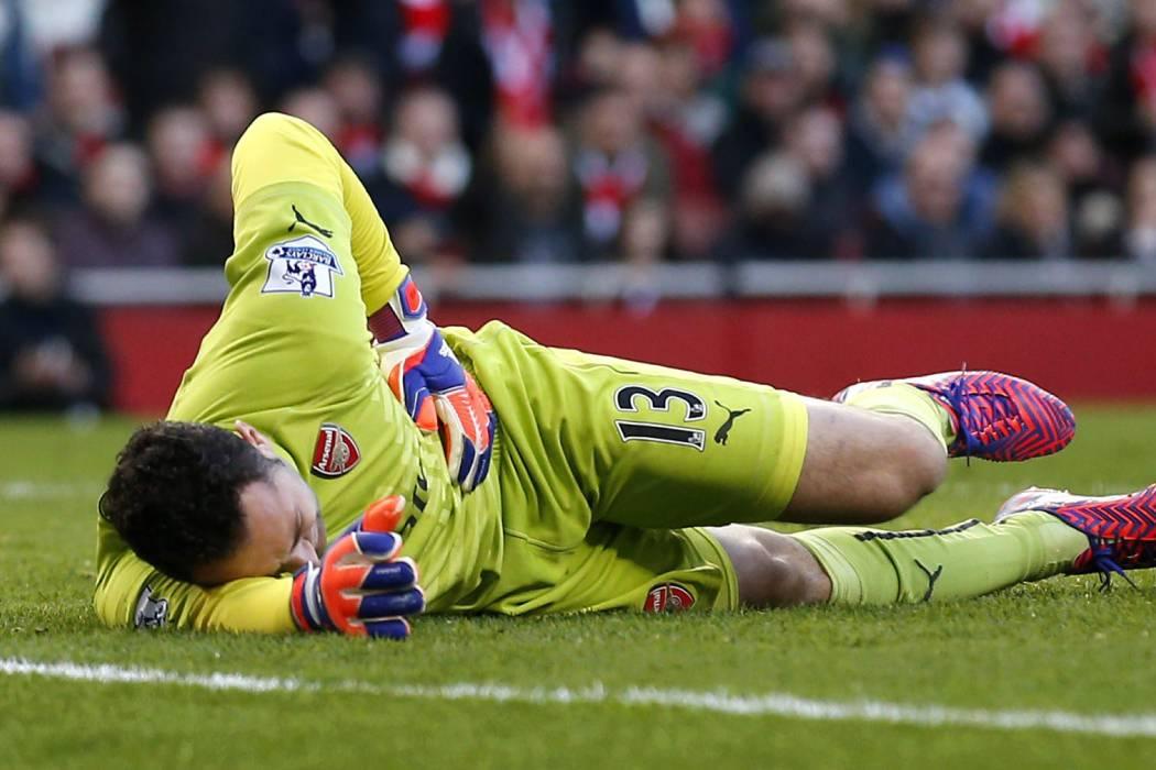 Por lesión, David Ospina no fue titular con el Arsenal