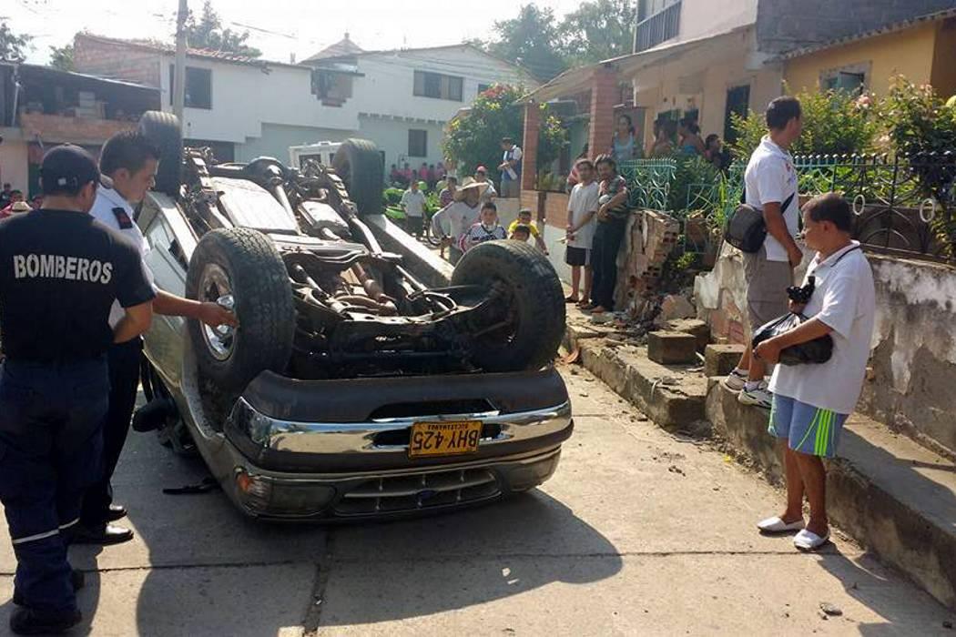 Conductor ebrio causó accidente en San Gil