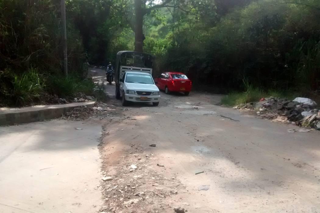 Vía a Guatiguará en Piedecuesta, tramo inseguro para comunidad