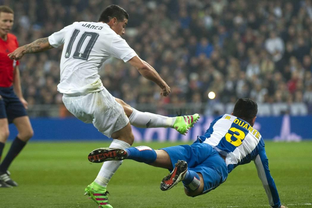 James continuaría en la titular del Real Madrid este fin de semana