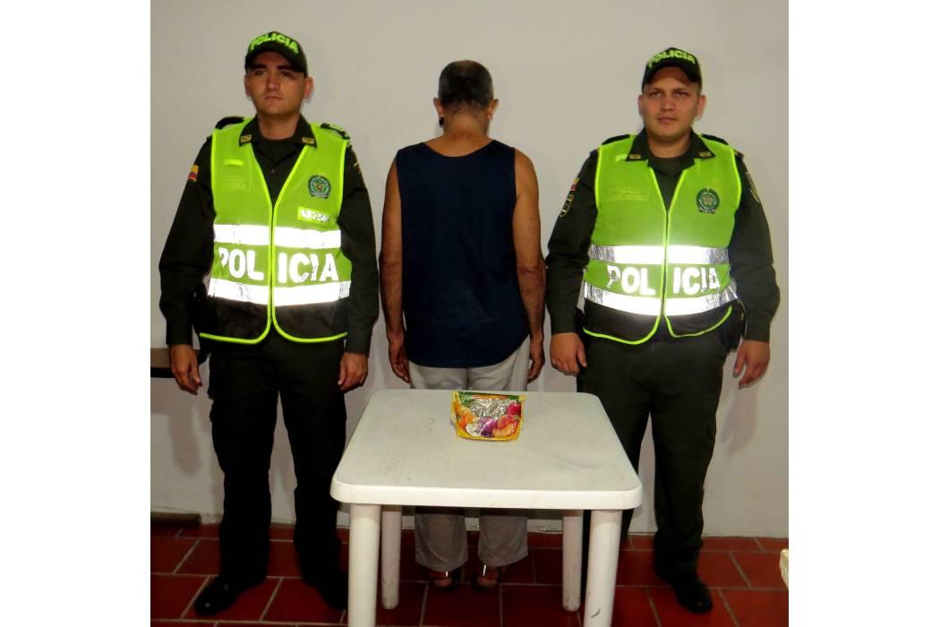 Capturan un hombre con 50 gramos de marihuana