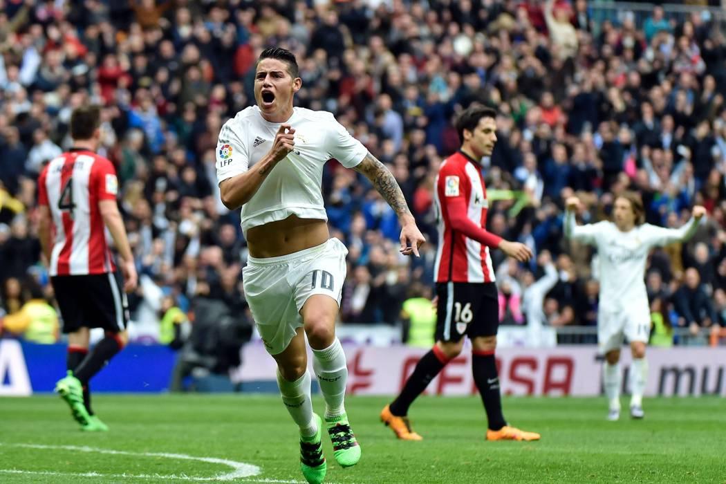 James se reportó con gol en la victoria del Real Madrid