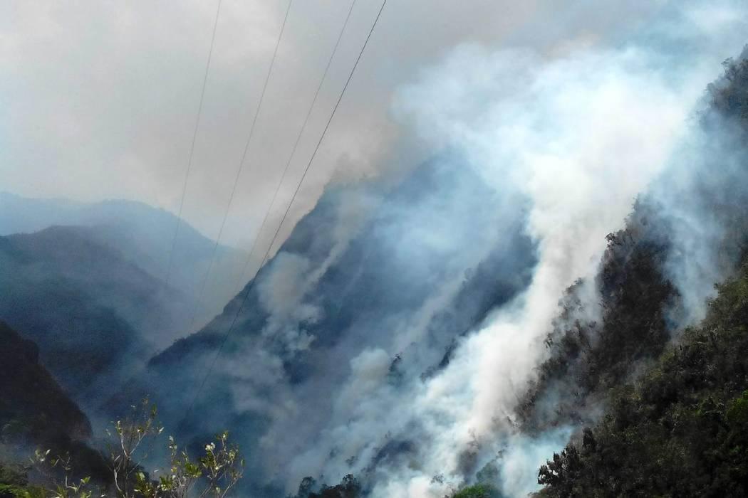 Decretan calamidad pública por incendio en páramo en Santander