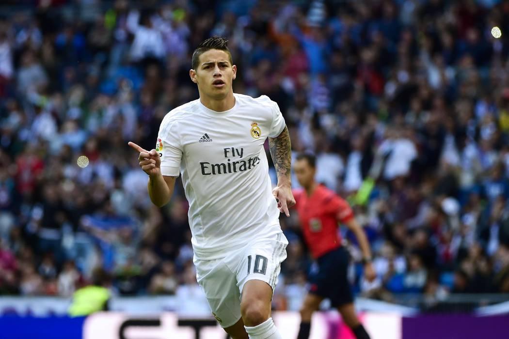 James Rodríguez es titular este sábado con Real Madrid ante Getafe