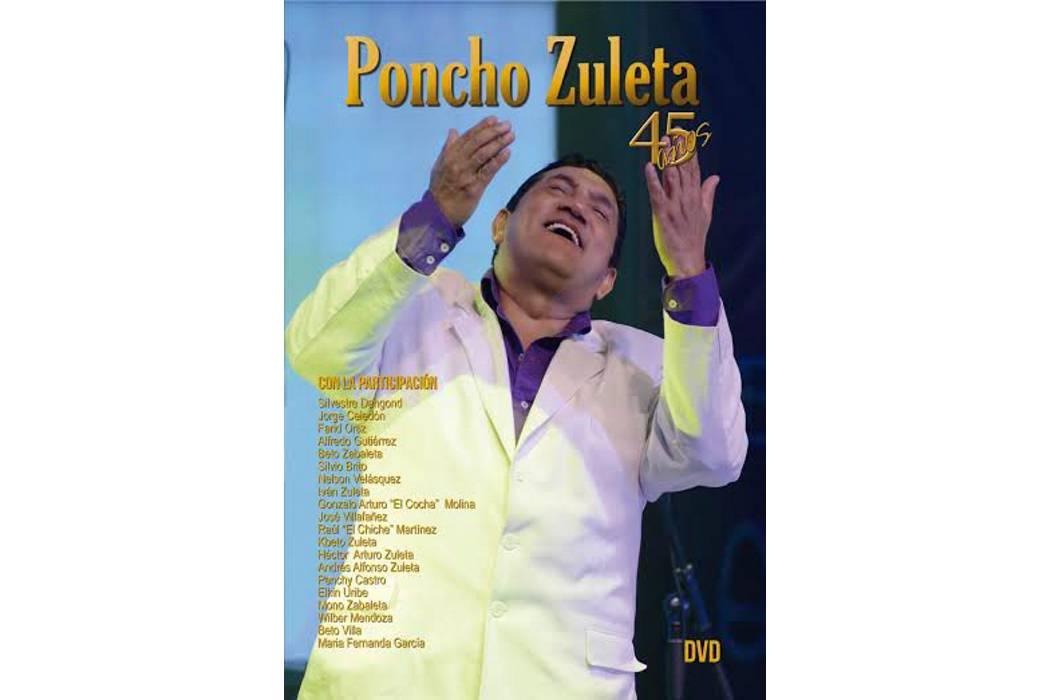 Homenaje a Poncho Zuleta por  sus 45 años de carrera artística