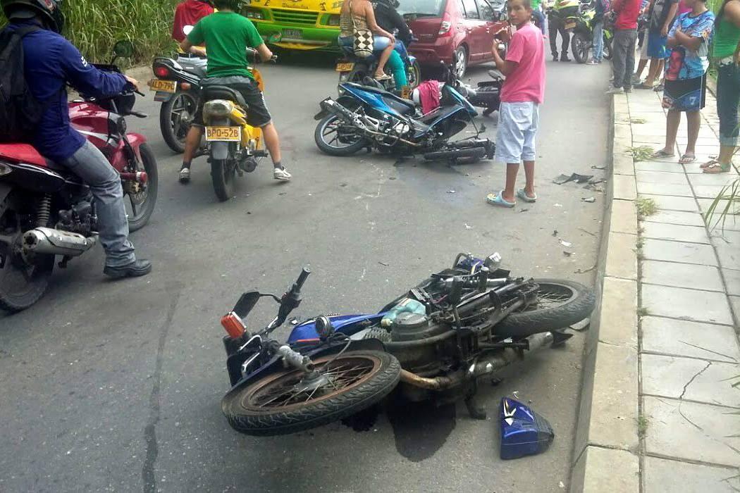 Accidentes en moto dejaron un muerto y cinco heridos en Bucaramanga