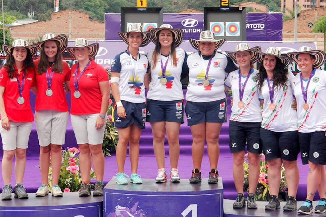 Colombia campeón en arco compuesto por equipos femenino en la copa mundo