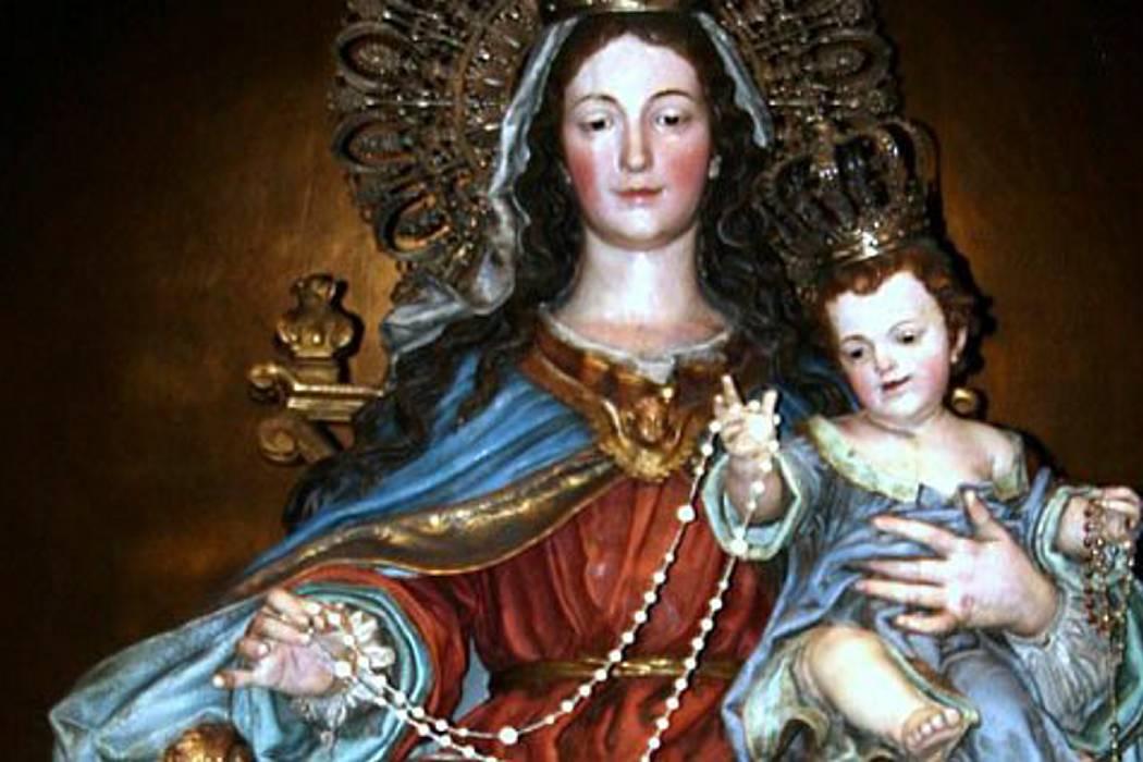 Hoy, procesión en honor a la virgen del Rosario
