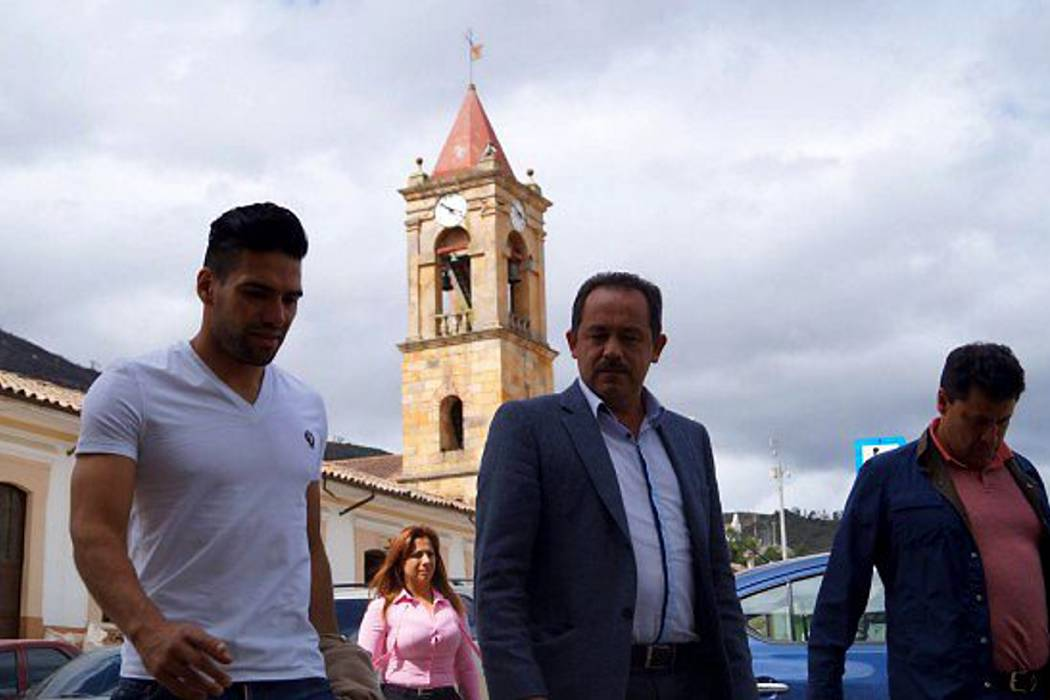 Falcao visitó Gachancipá, un municipio en Cundinamarca