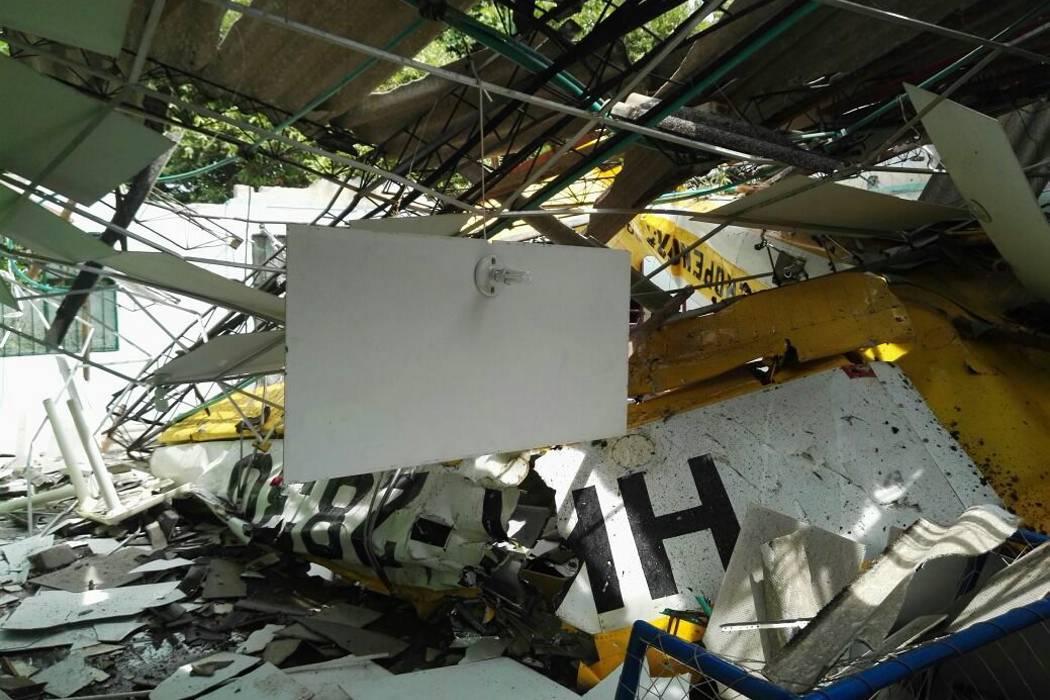 Una avioneta se estrelló en Santander