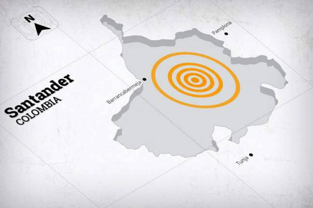 Temblor de 4.5 sacudió a Bucaramanga en la madrugada de este martes