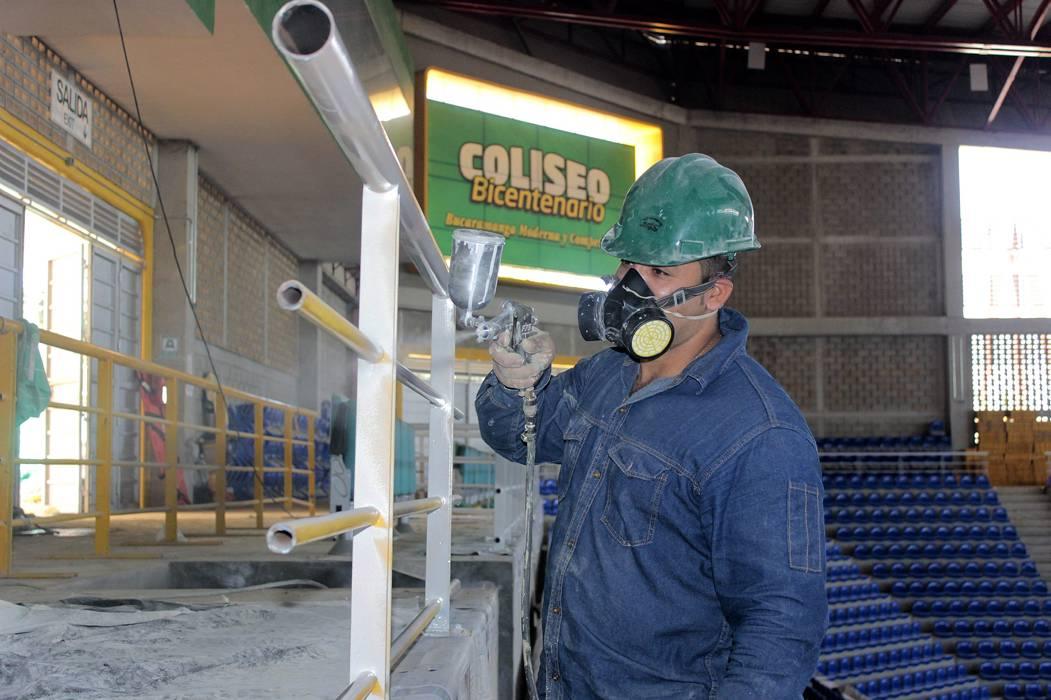 Obras del Coliseo  Bicentenario tienen  un avance del 47%