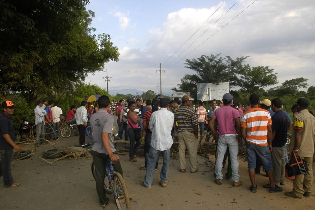 Bloqueos en Puerto Wilches