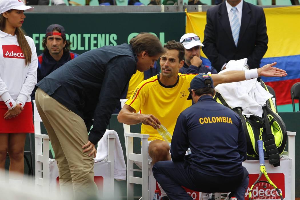 Chile venció a Colombia 3-1 en la previa a la Copa Davis
