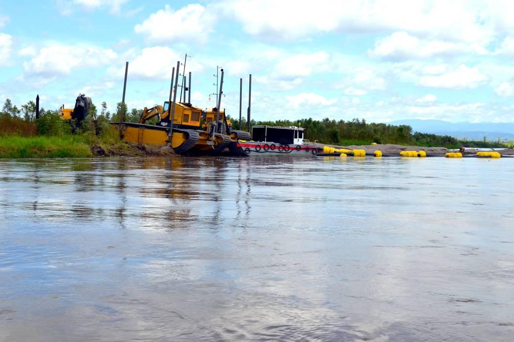 Denuncian afectaciones en el río por trabajos de Navelena