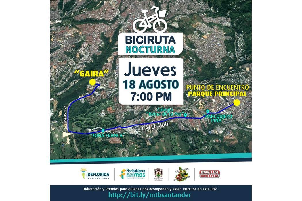 Hoy, 'Bicirruta Nocturna' pasará por la calle 200