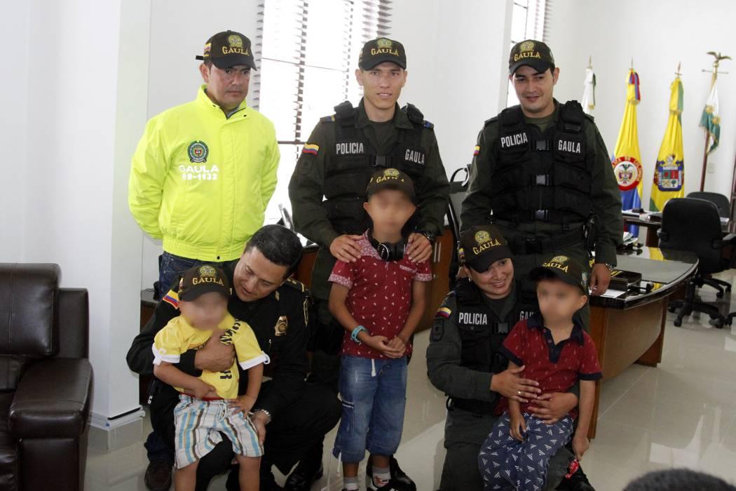 Gaula rescató tres niños que fueron secuestrados en Girón