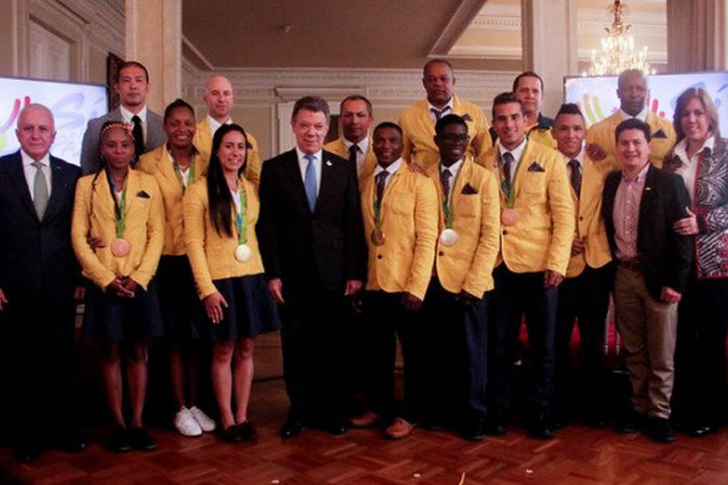 El presidente Juan Manuel Santos se reúne con medallistas olímpicos