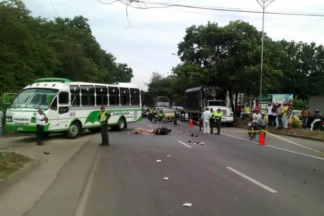 Motociclista murió tras accidente en vía a Piedecuesta