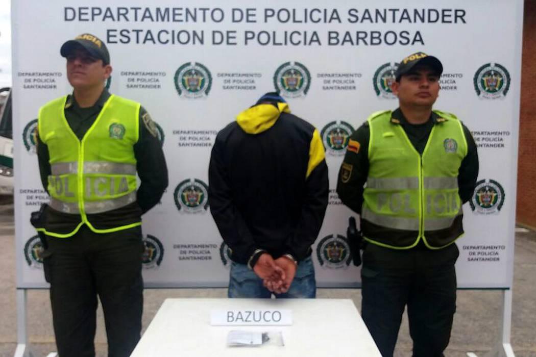 Un hombre fue capturado por porte de sustancias sicoactivas