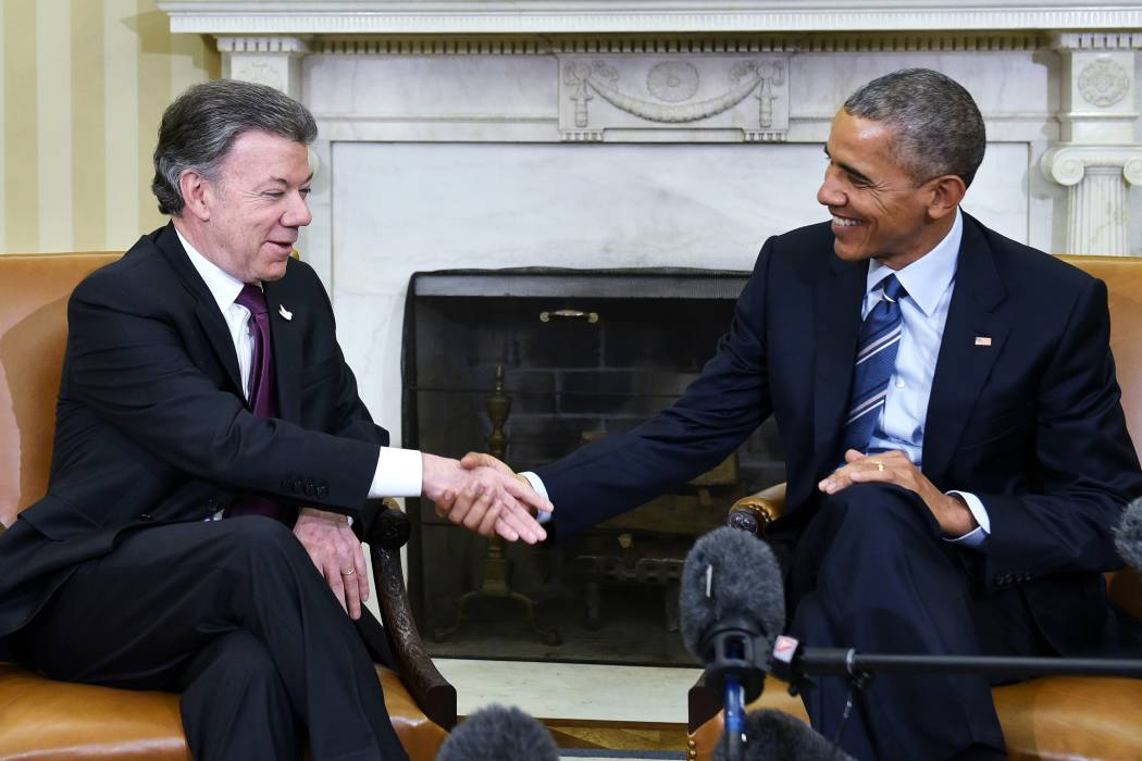 Barack Obama celebró el Nobel de Paz para Juan Manuel Santos
