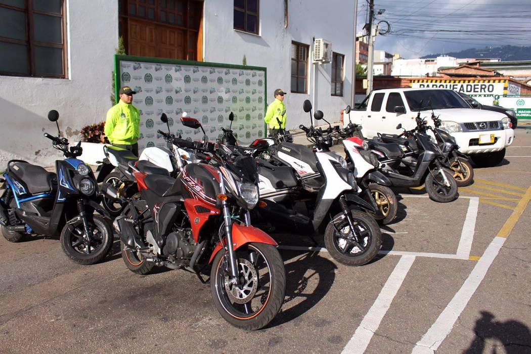 La Policía recupera diez motos robadas en Bucaramanga