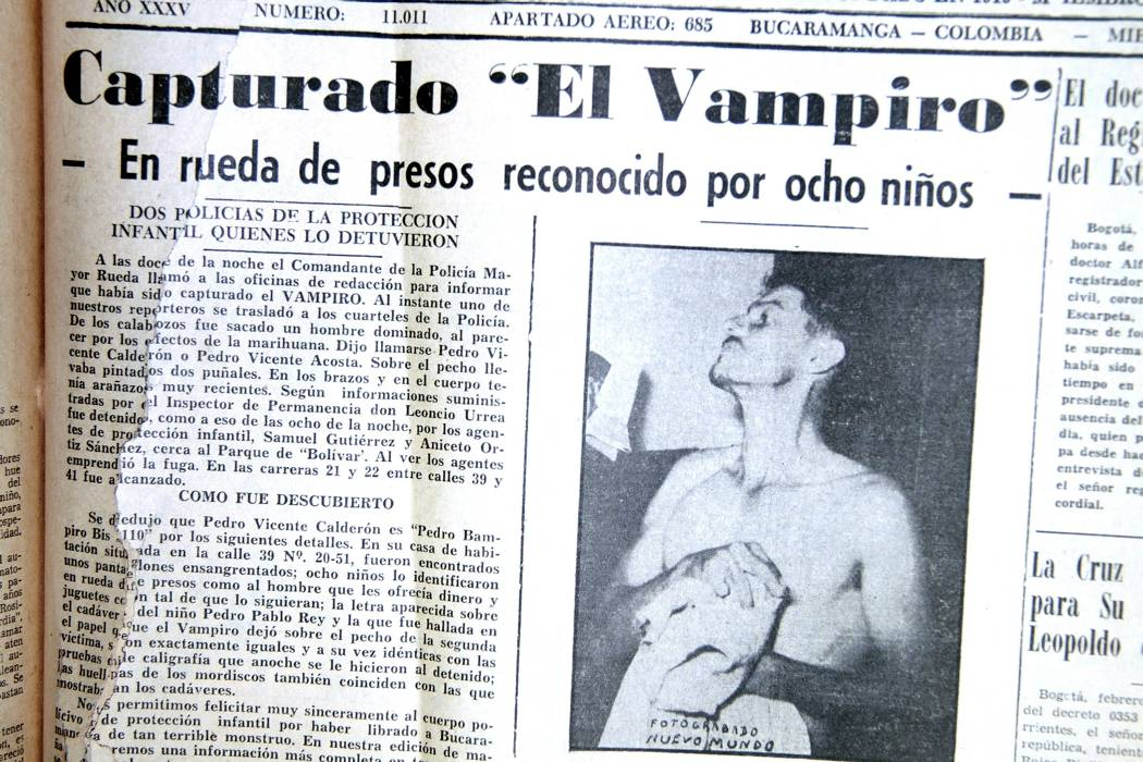 Las muertes del Vampiro del 55, que atacó en Bucaramanga