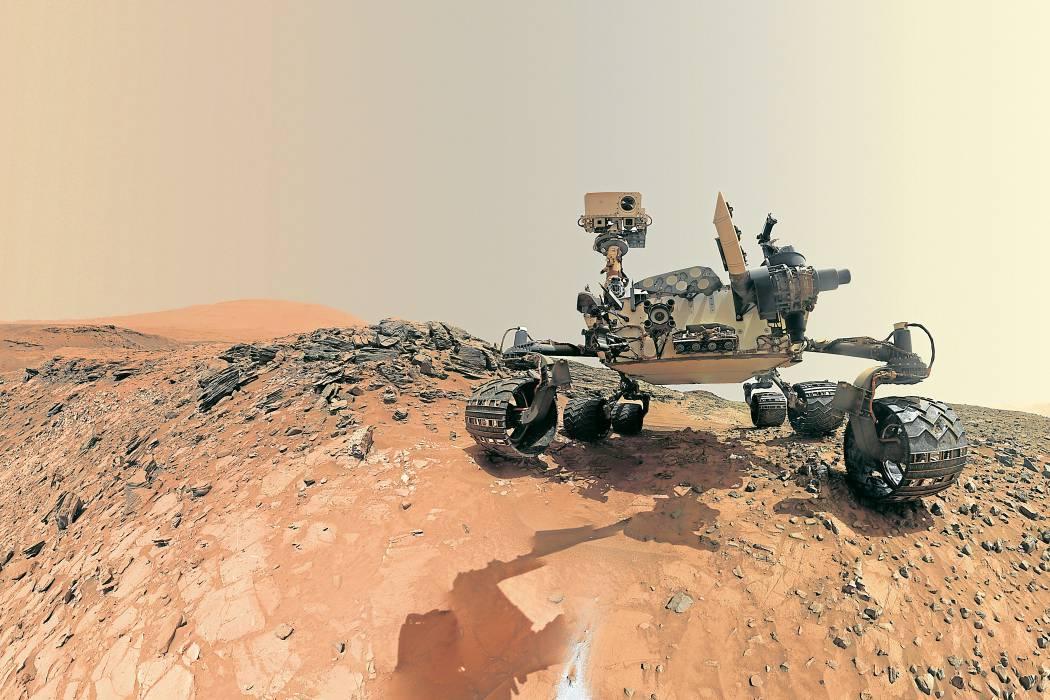 ¿Qué encontró el Curiosity  en el desierto marciano?