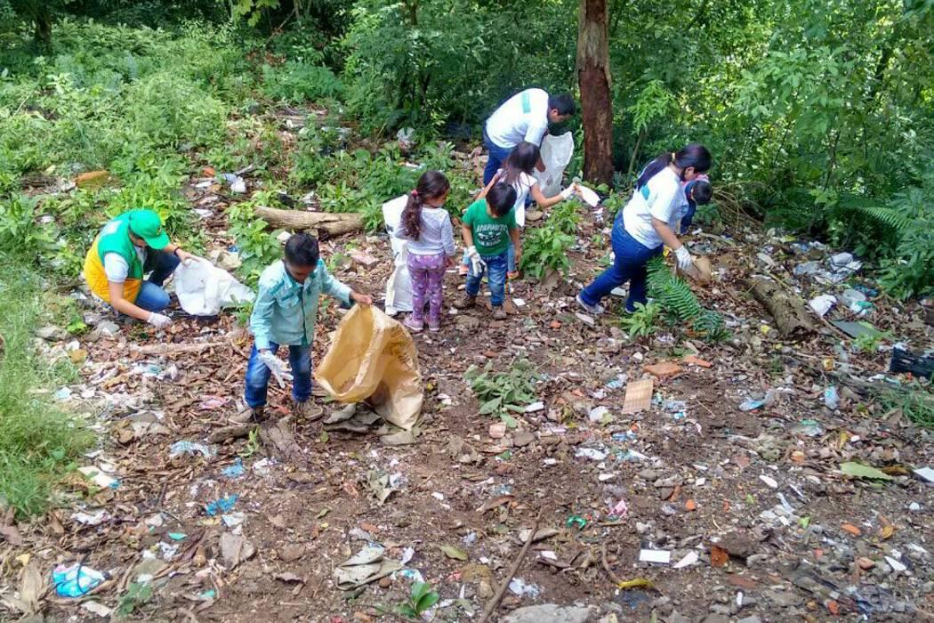 408 kilos de residuos se recoletaron en tres municipios de la provincia Guanentina