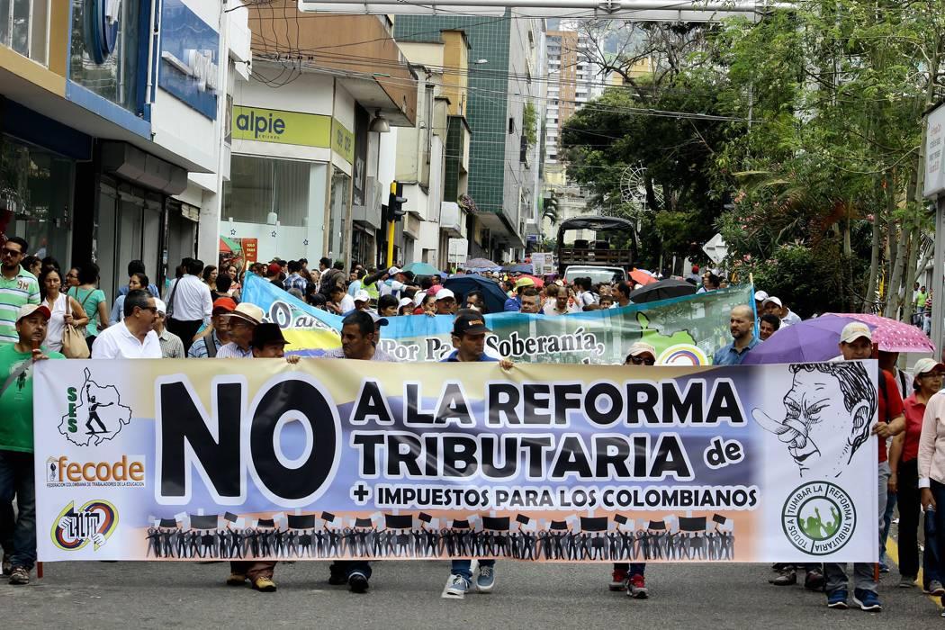 Realizarán plantón contra reforma tributaria en Bucaramanga