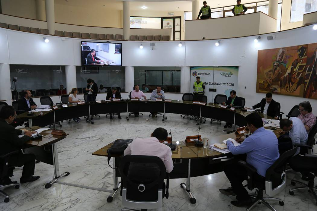 Concejo sigue sin aprobar el presupuesto de Bucaramanga para el 2017