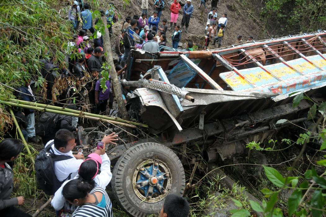 Dos muertos y cinco heridos por accidente en el Cauca