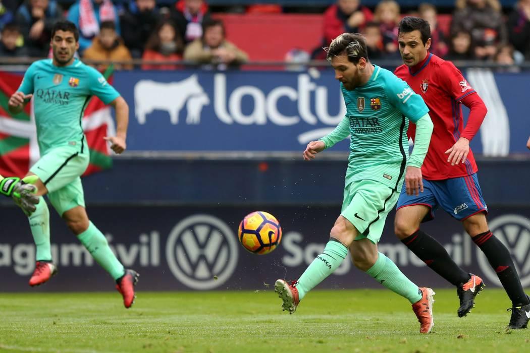 Con un gran juego de Lionel Messi el Barcelona volvió a ganar en España