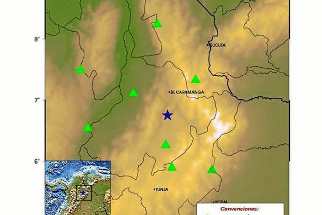 Temblor se registró en la madrugada de este lunes en Santander