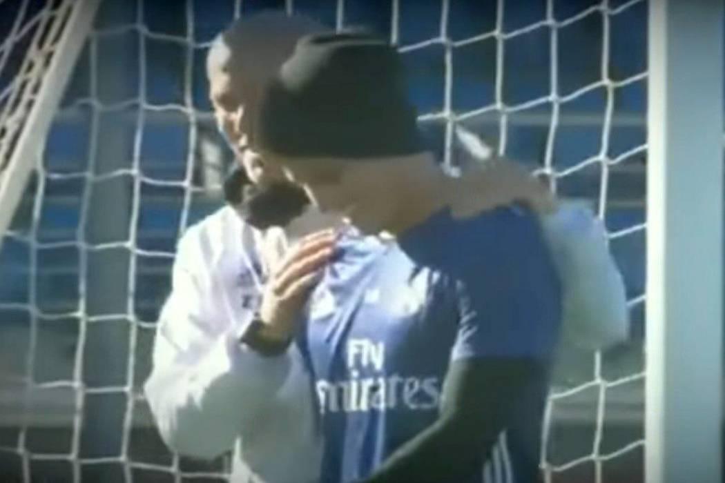 Feliz encuentro entre James y Zidane en el regreso a entrenamientos