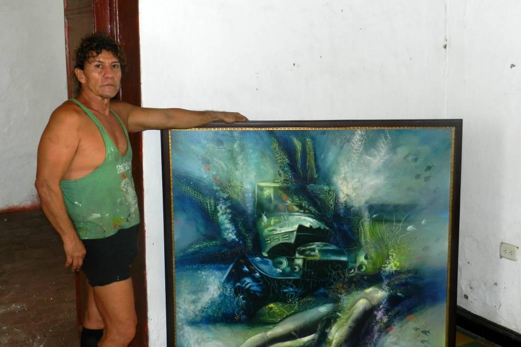 Pintor Gonzalo Rey ha dedicado su vida al arte