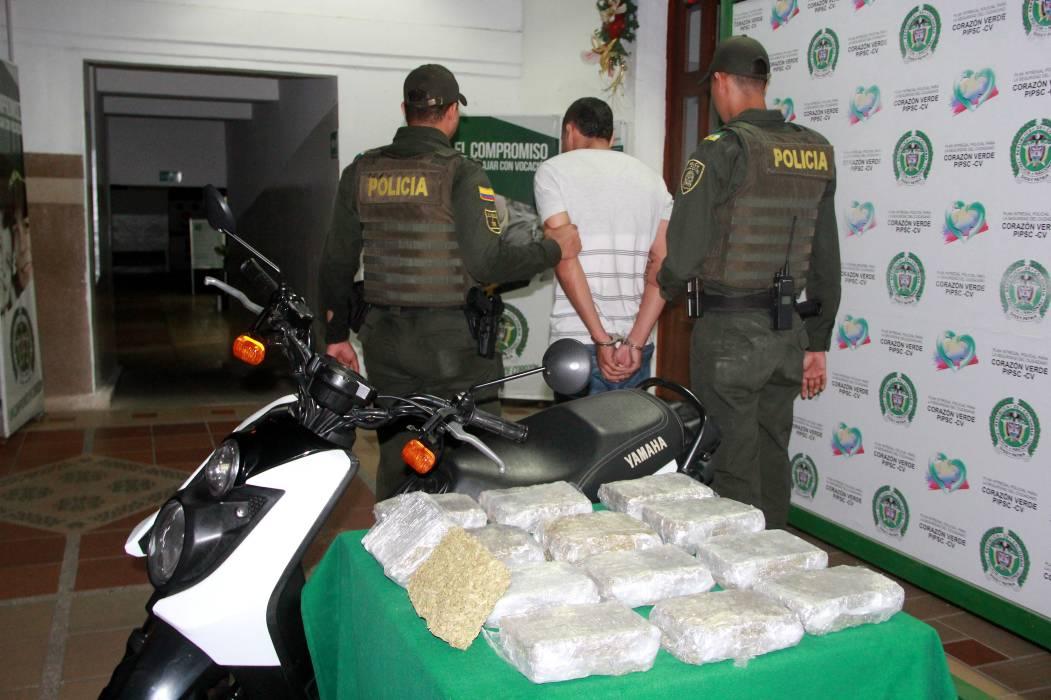 Capturado hombre con marihuana prensada en forma de panela en Bucaramanga