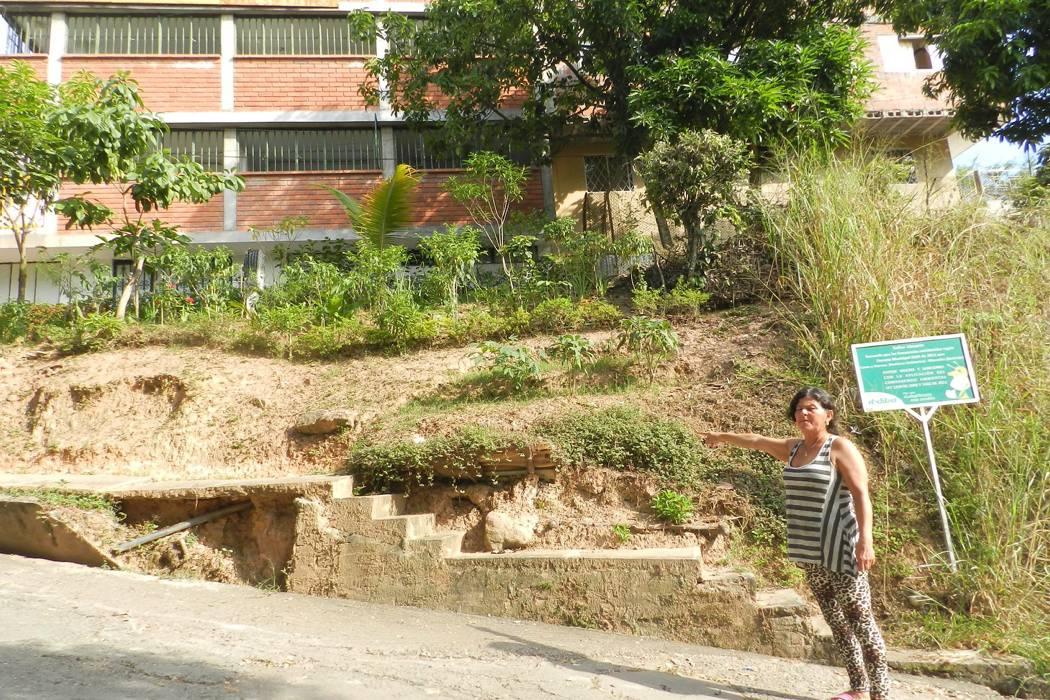 En el barrio Los Alpes  hay 100 casas en riesgo