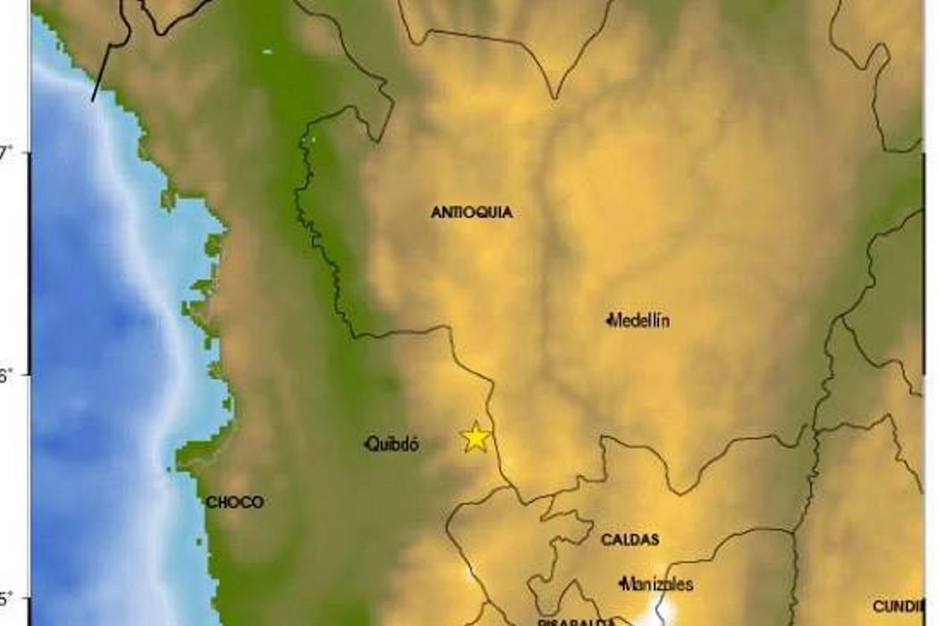 Fuerte temblor se registró este jueves en el occidente de Colombia
