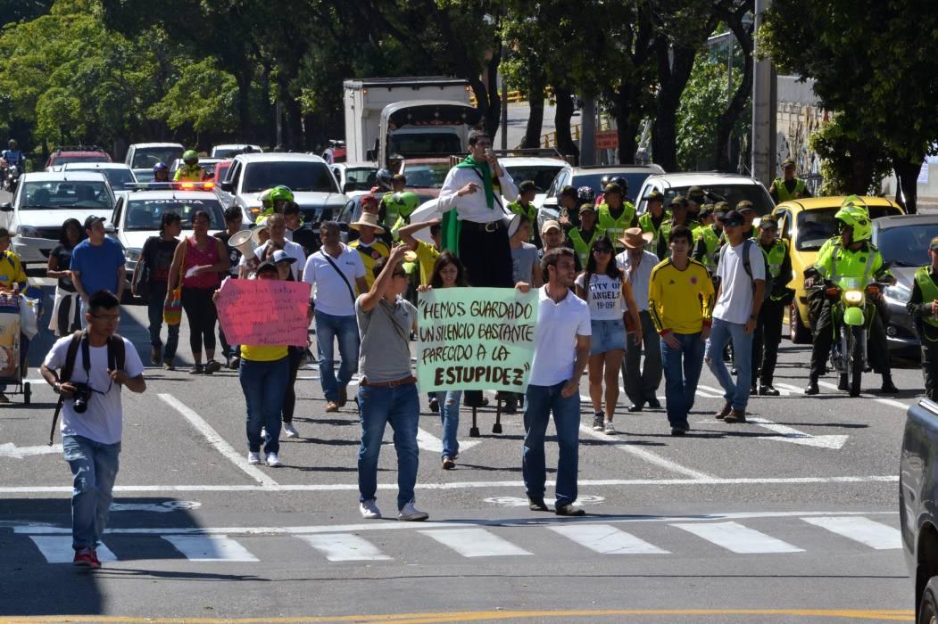 Protestaron contra la Reforma Tributaria en Bucaramanga