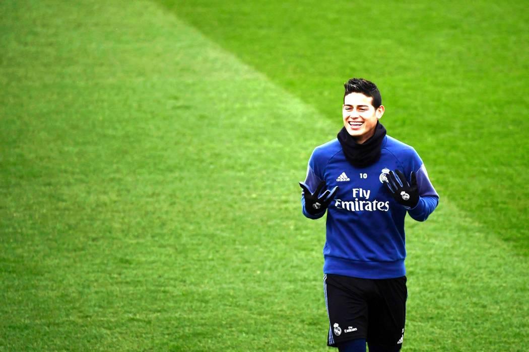 James Rodríguez, titular con el Real Madrid para enfrentar a Nápoles en Champions
