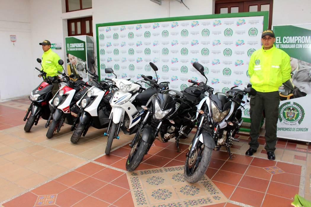 Recuperan ocho motocicletas  y capturan a cinco delincuentes en Bucaramanga