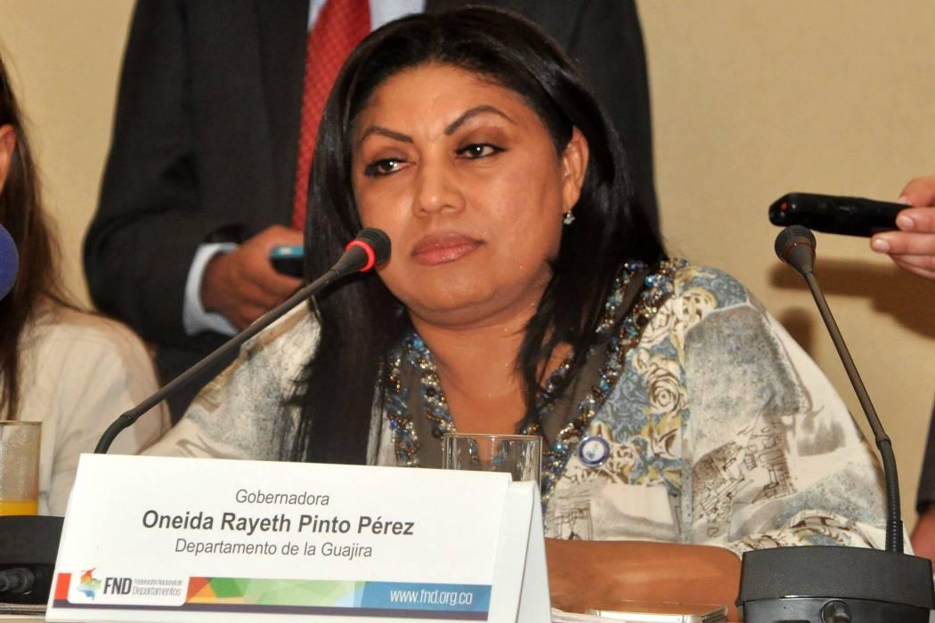 Capturan en Bogotá a la exgobernadora de la Guajira Oneida Pinto