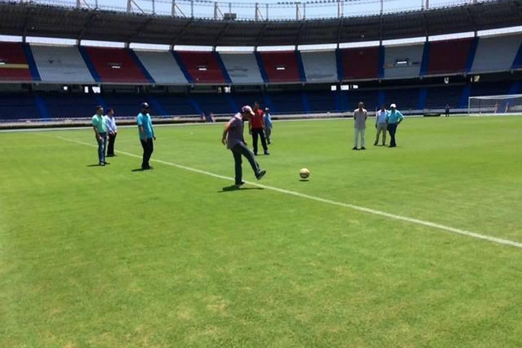 Así luce la nueva grama del estadio Metropolitano, donde Colombia jugará contra Bolivia