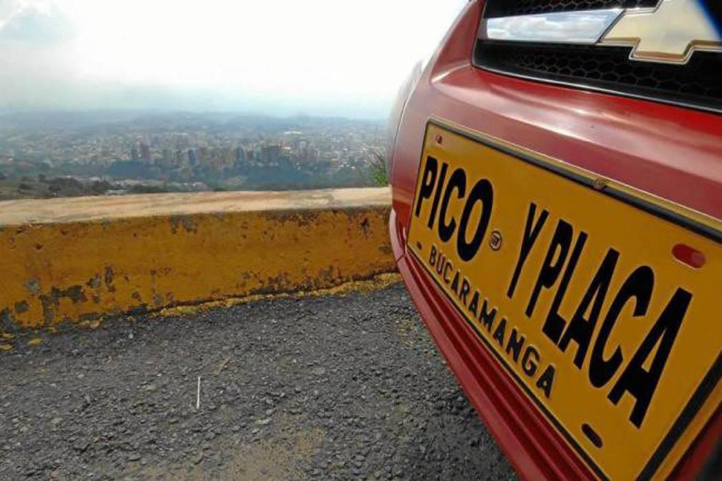 Ahora Tránsito contempla Pico y Placa de cuatro dígitos en Bucaramanga