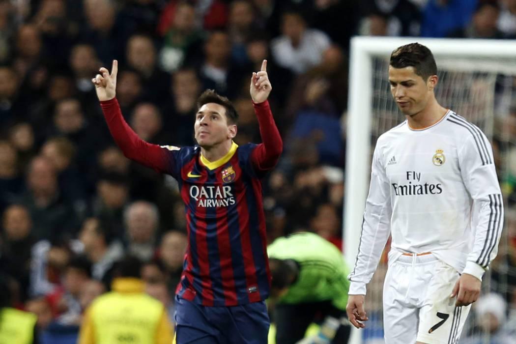 Vea el abrazo de Messi y Ronaldo que no se mostró en televisión